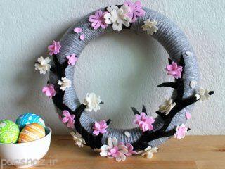 بیایید با هم حلقه گل زیبا درست کنیم