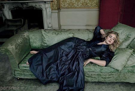 عکس های زیبای ادل Adele روی جلد مجله Vogue