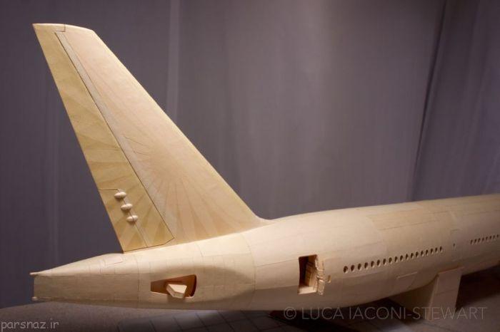 هواپیمای بوئینگ 777 زیبا و جالب از جنس کاغذ و مقوا