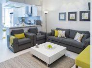 ترکیب عالی رنگ های زرد و خاکستری در دکوراسیون