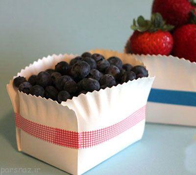 با بشقاب یکبار مصرف ظرف میوه شکیل بسازیم