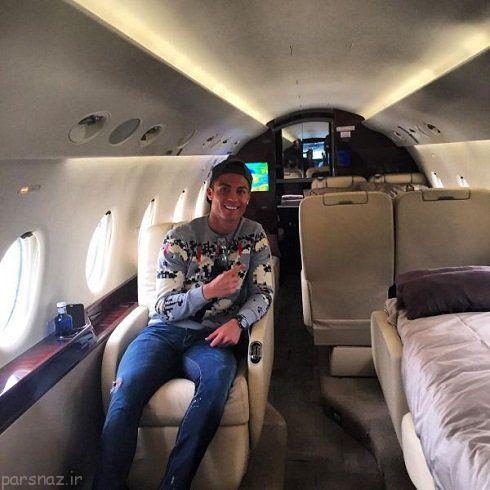 کریس رونالدو و هواپیمای شخصی اش را ببینید