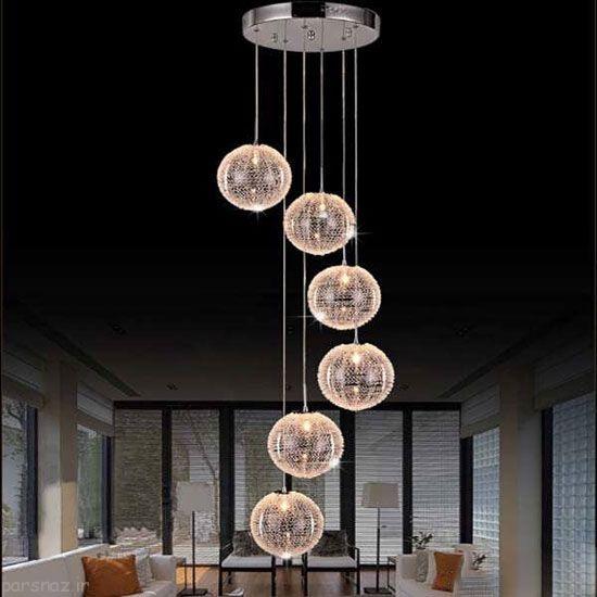 مدل های لوستر زیبا با نورپردازی عالی