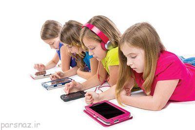 آشنایی کودکان با موبایل و اینترنت