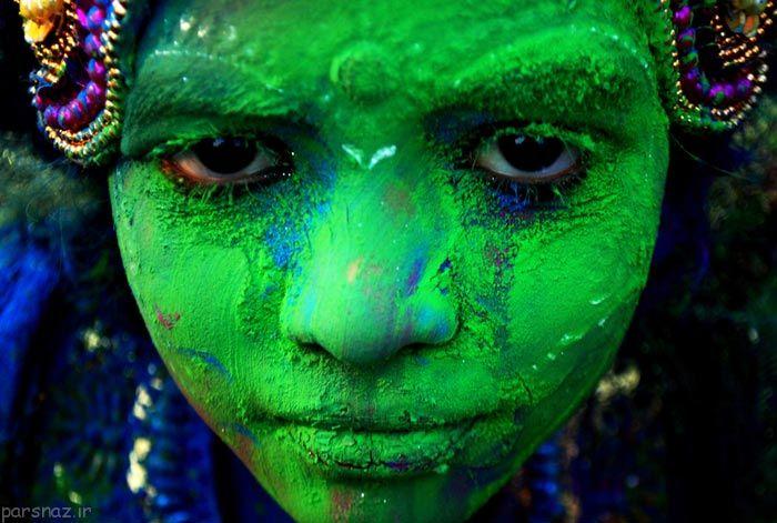 جشنواره جالب و زیبای رنگ ها در هندوستان +عکس