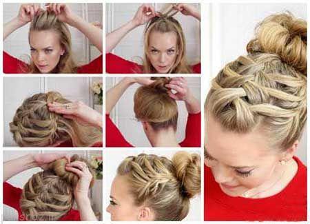 آموزش بافت موهای زیبا بصورت تصویری