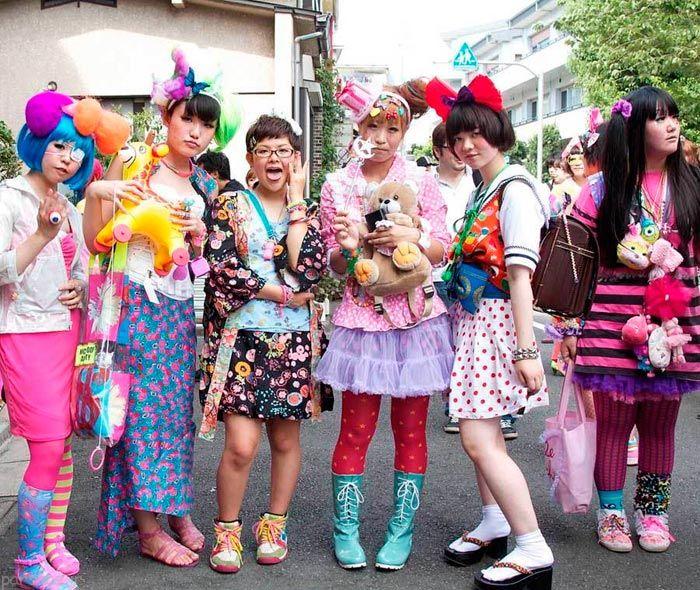 تیپ های جدید و عجیب و غریب دختران ژاپنی +عکس