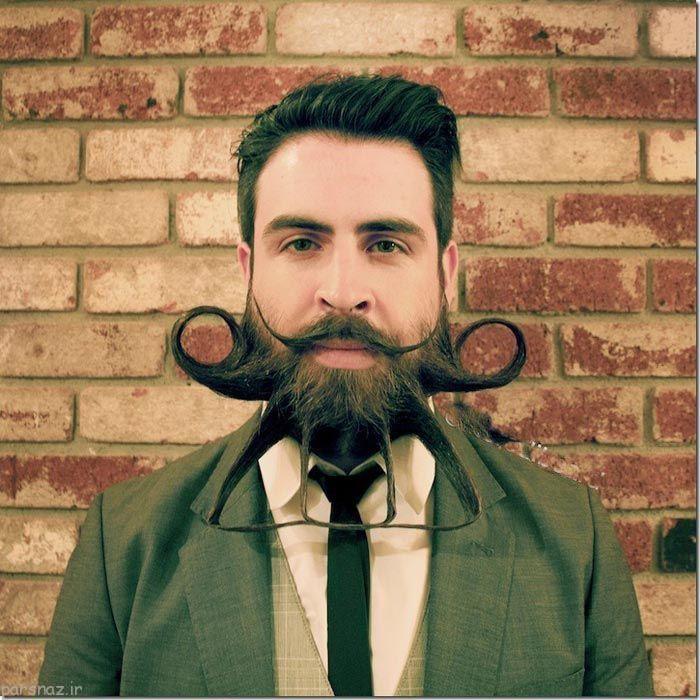 عکس های خنده دار مردی با سبیل های غیر عادی