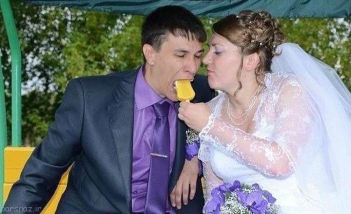 عکس خنده دار عروسی