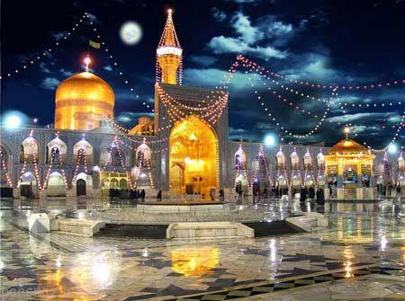 ع های مذهبی از حرم رضا در مشهد مقدس