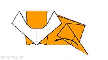 آموزش اریگامی ساخت شیر کاغذی