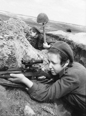 زنان تک تیرانداز جنگ جهانی دوم را ببینید +عکس