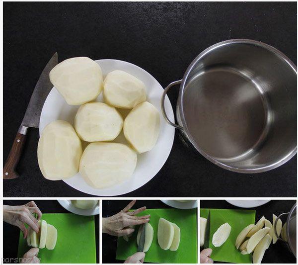 سیب زمینی سرخ کرده به سبک فست فود