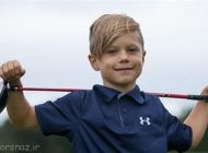 پسر 6 ساله در مسابقات گلف اول شد