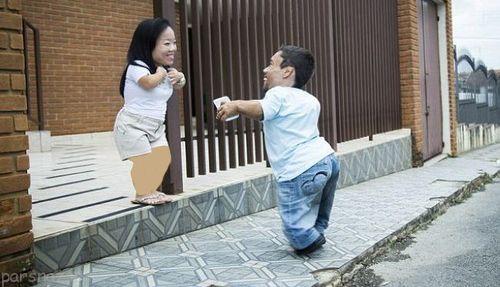 قدکوتاه ترین زن و شوهر دنیا را ببینید +عکس