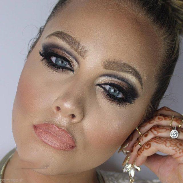 تصاویر مدل آرایش صورت ،مدل ابرو ،مدل آرایش چشم زیبا