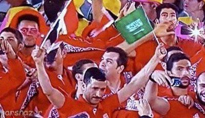 پرچم عربستان در دست ورزشکار مصری در المپیک