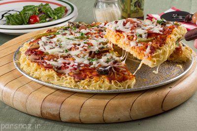 آموزش درست کردن پیتزا نودل بدون فر