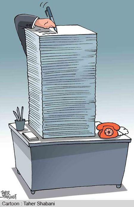 کاریکاتورهای جالب و بامعنی درباره کارمند