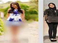 می گویند این دختر برهنه نوه امام است +عکس