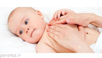 نوزاد خود را ماساژ دهید تا آرام گیرد