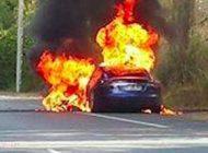خودروی شرکت تسلا هنگام تست منفجر شد