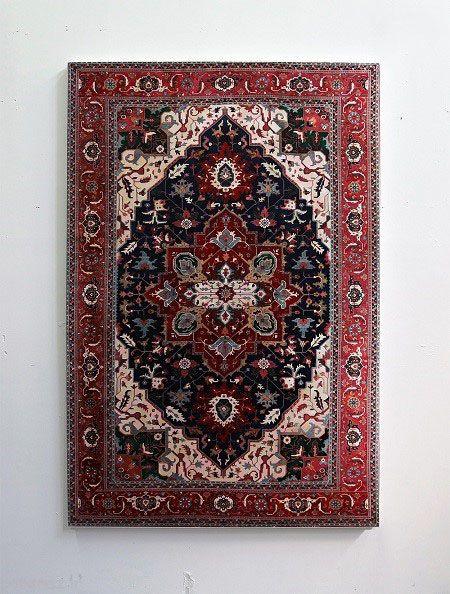 نقاشی قالی های ایرانی در میامی آمریکا