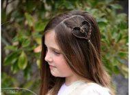 مدل بافت موهای زیبا و جدید شکل قلب