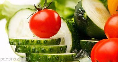 کاهش وزن با گوجه فرنگی و خیار خام