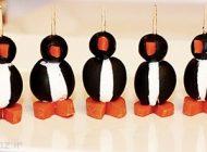 با ترکیب زیتون و پنیر پنگوئن درست کنید