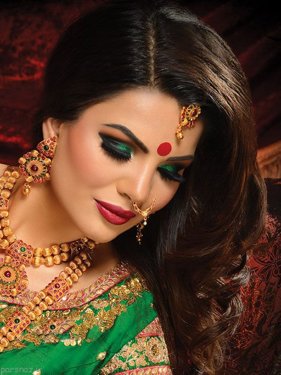 عکس های زیبا از جذاب ترین آرایش زنان هندی