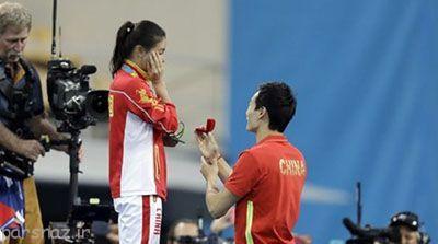 خواستگاری ورزشکار المپیک روی سکوی مدال