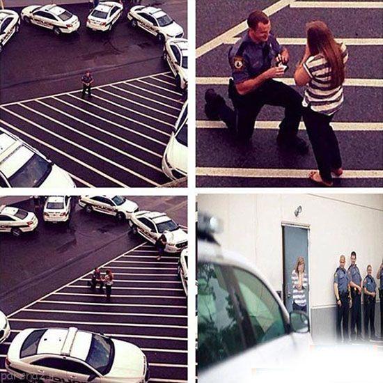 خواستگاری رویایی مامور پلیس از دختر +عکس