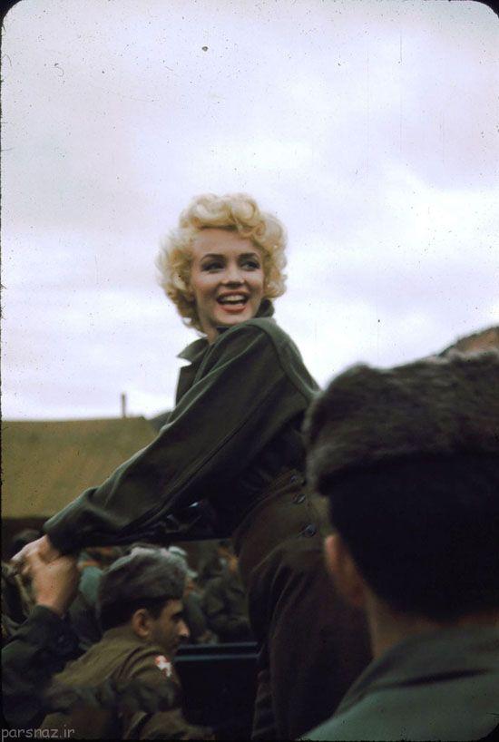 مرلین مونرو افسانه ای و اجرای کنسرت برای سربازها