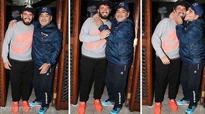 مارادونا پس از 30 سال پسر خود را معرفی کرد