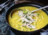 طرز تهیه سوپ مرغ و تره فرنگی با طعم عالی