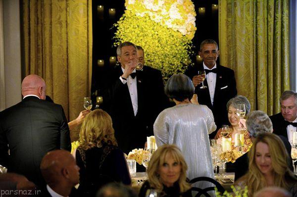 مهمانی مجلل در کاخ سفید و تصاویر جالب