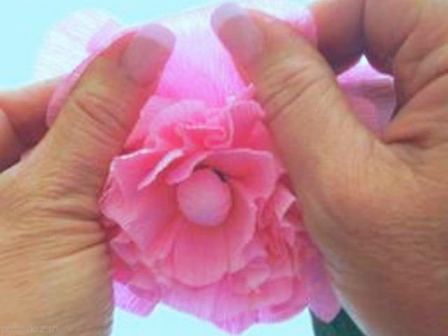 بیایید باهم گل کاغذی زیبا درست کنیم