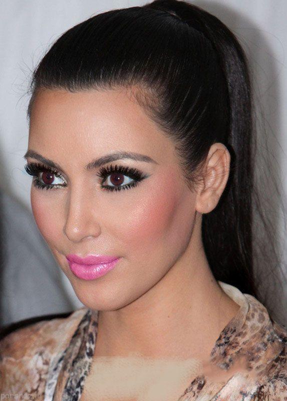 2030201075 parsnaz ir مدل آرایش صورت و مدل موی کیم کارداشیان
