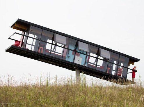 خانه ای که با وزش باد حرکت می کند +عکس