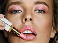 مدل آرایش صورت برنزه و طلایی جذاب و زیبا