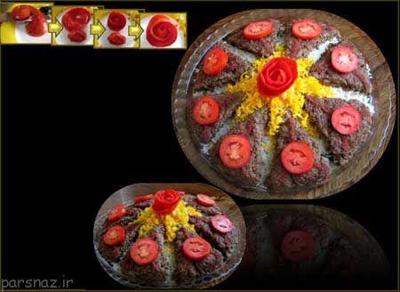 انواع تزیین های کباب تابه ای زیبا و جالب