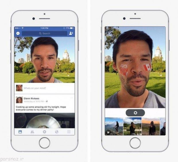 فیلترهای اسنپ چت به فیس بوک می آیند