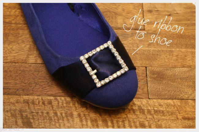 آموزش تزیین کفش زنانه به روبان های زیبا