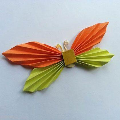 آموزش تصویری ساخت پروانه برای بچه ها