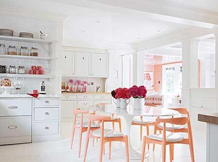 دکوراسیون آشپزخانه با رنگ های متنوع و زیبا