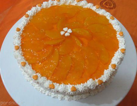عکس های الگوی تزیین کیک با ژله و خامه