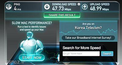 کره جنوبی سریع ترین اینترنت دنیا را دارد