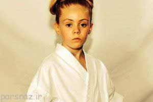 تصاویر جالب از دختر خردسال که اعجوبه کاراته است