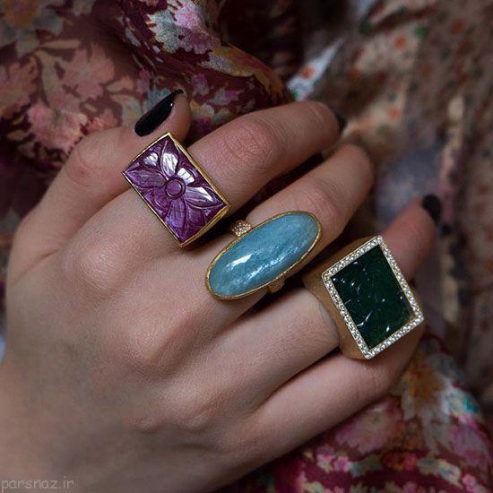 زیور آلات سنگی زیبا از برند Karen Liberman